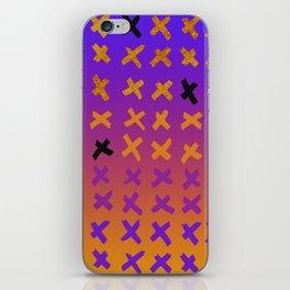 Colorful x-mark design iPhone Skin