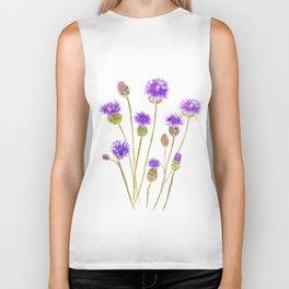 purple thorny wildflower Biker Tank