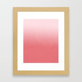 Ombre fade pastel trendy color way throwback retro palette 80s 90s style Framed Art Print
