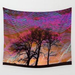 Disco Dancing Trees Wall Tapestry