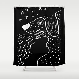 Helmut the Dog Shower Curtain