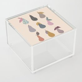 Patterned Pears Acrylic Box
