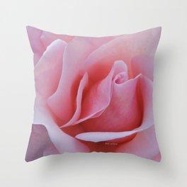 Rose Petal Pink Throw Pillow