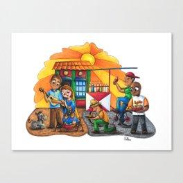 Pesebre de Navidad Maracucho / Christmas Nativity set from Maracaibo Canvas Print