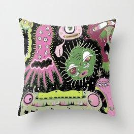 Cosmic Cooties Throw Pillow