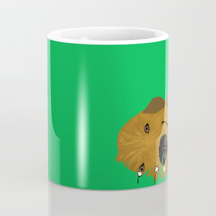 Goldendoodle in Grass Coffee Mug