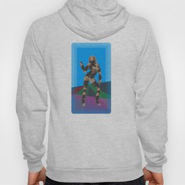 Sexy pump 1. On multicolored background. (Predominance of light blue) Hoody