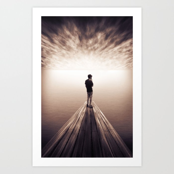 The Sky is getting closer Art Print