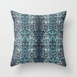 Abstract blue black pattern. Throw Pillow