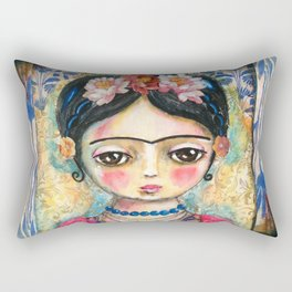 The heart of Frida Kahlo  Rectangular Pillow