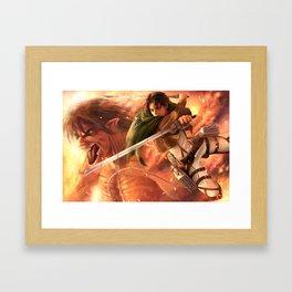 Captain Levi Framed Art Print