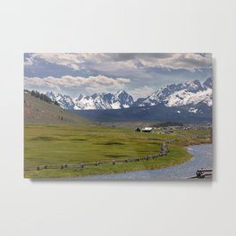 Sawtooths from Lower Stanley, Idaho Metal Print