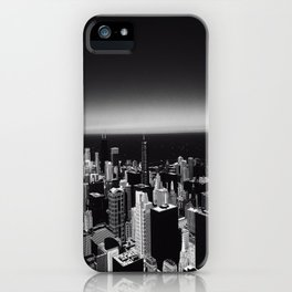 Black and White Chicago Skyline iPhone Case