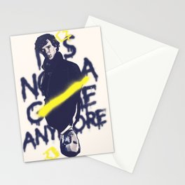 Not a game anymore Stationery Cards