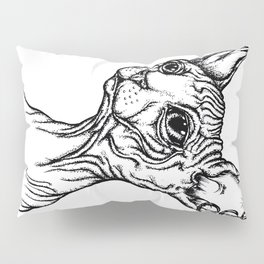 Sphynx cat portrait Pillow Sham
