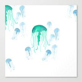 Waterolor Jellys Canvas Print