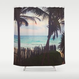 Tropical Candy Sky in Tulum Shower Curtain