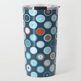 Rowanberry Winter Dots and Circles Night Travel Mug