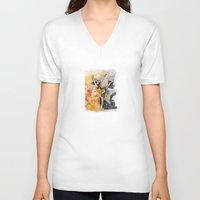 ballet V-neck T-shirts featuring Ballet by Andreas Derebucha