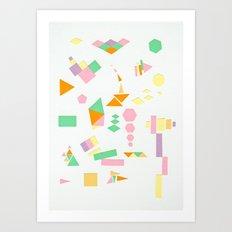Juxtapose Art Print