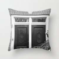 door Throw Pillows featuring door by habish