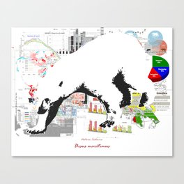 Natura Technica - Polar Bear Canvas Print