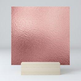 Pure Rose Gold Metal Pink Mini Art Print