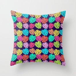 Monstera Deliciosa Print Throw Pillow
