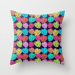 Monstera Deliciosa Print Throw Pillow