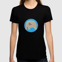 Blue Safari Elephant 2 T-shirt