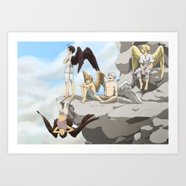 Winged kids Art Print