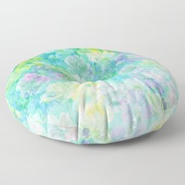 Enchanted Spring Floral Abstract Floor Pillow