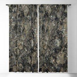 Grunge Organic Texture Print Blackout Curtain