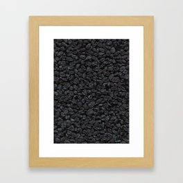 Dried grapes. Background. Framed Art Print