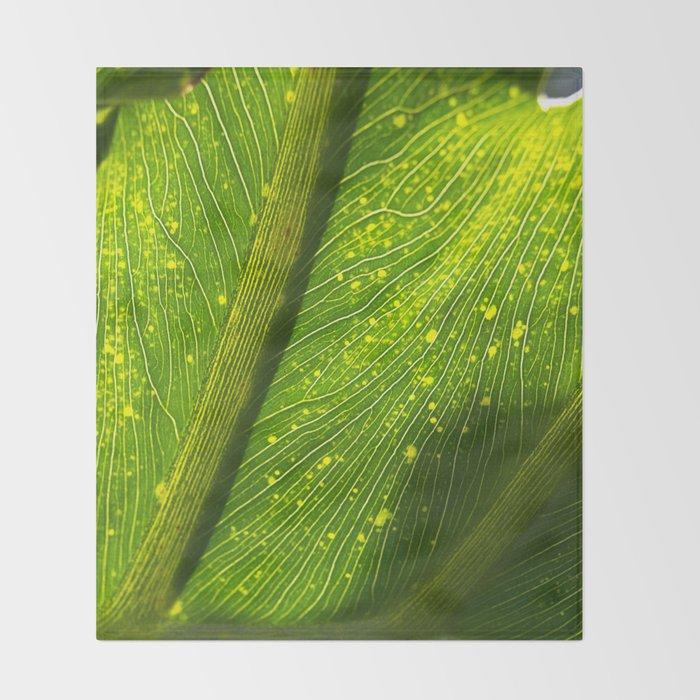 Spotted Leaf Throw Blanket