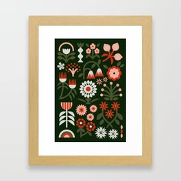 Winter Wrap: Green Framed Art Print