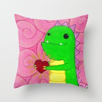 chuck Throw Pillows featuring Chuck by infiniteamethyst