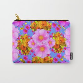 Decorative Pink & Blue Art Carry-All Pouch