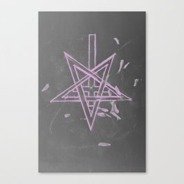 Unholy in Pink Sigil Canvas Print