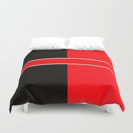Team Colors 6...red,black,white Duvet Cover