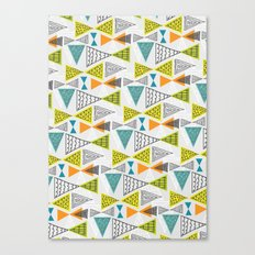 Geometric Mid Century Modern  Triangles Canvas Print