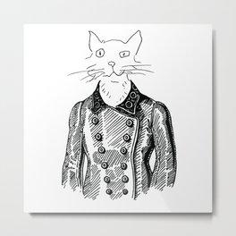 Crappy Cat 3! Metal Print