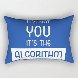Social Media Algorithm Blues Rectangular Pillow