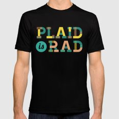 Plaid is Rad Mens Fitted Tee LARGE Black