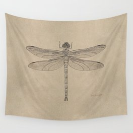 Dragonfly Fossil Dos Wall Tapestry