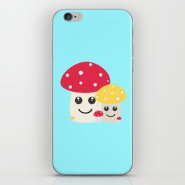 Cute colorful mushrooms iPhone Skin