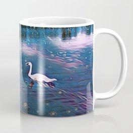 Swans Under Starlights Coffee Mug