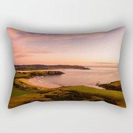 jacks bay new zealand beautiful colors at sunset farmland bay Rectangular Pillow
