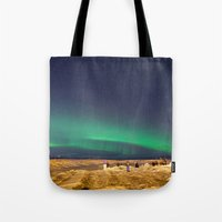 aurora Tote Bags featuring Aurora by maisie ong