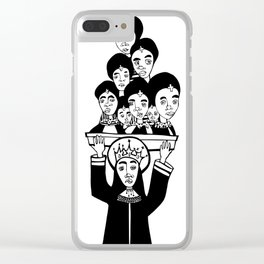Holy Humans I Clear iPhone Case